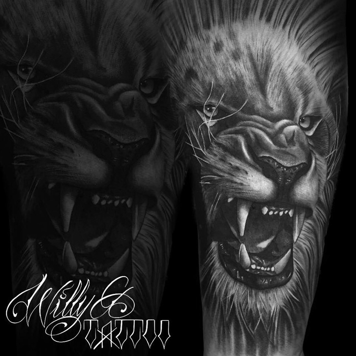 Realistic Lion Tattoo Designs